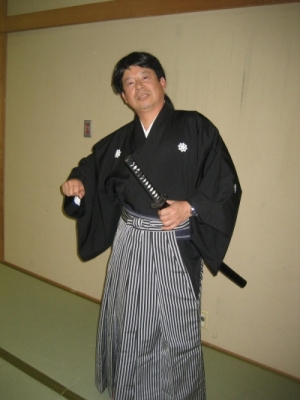 2010.05.23 宴席で龍馬になりきる社長後藤