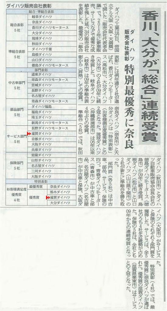 2011.01.27 ダイハツ販売会社代表者会議表彰式