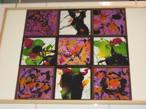 栗東店ショールームに飾られている山本玄匠氏の作品「幽玄」・「黎明」